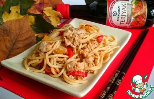 Рецепт Супер-спагетти с куриным фаршем