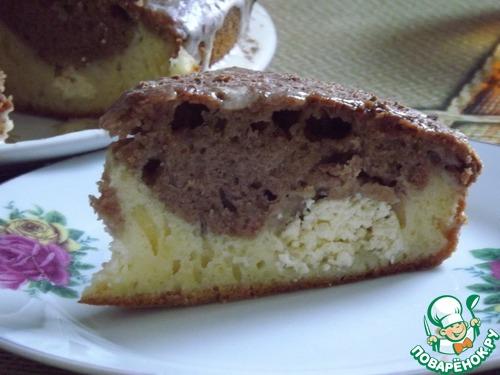 Рецепт Шоколадно-сливочный кекс с творожными шариками