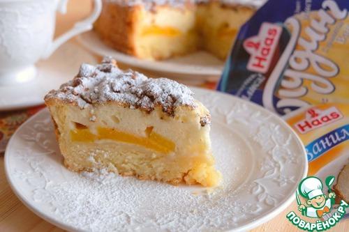 Рецепт Пирог с персиками с пудинговой заливкой