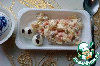 Рецепт: Салат Оливье с паниром