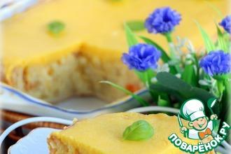 Рецепт: Воздушный рисовый пирог под тыквенным суфле