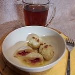 Творожные галушки с малиновой начинкой
