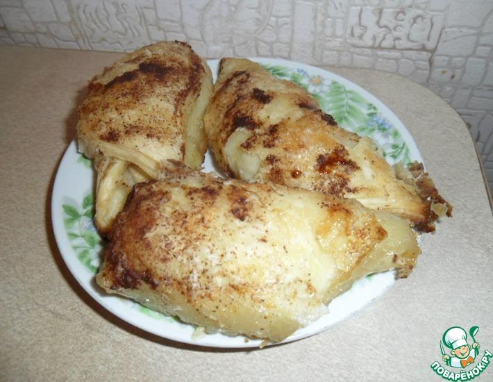 Рецепт: Слойки с яблоками и лимонадом Спрайт