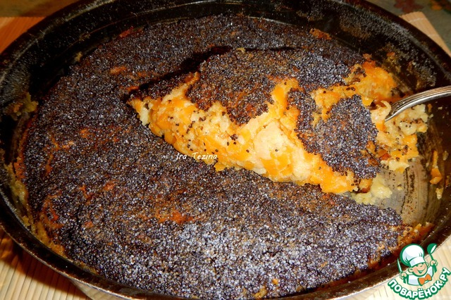 Рецепт Запеканка из тыквы и яблок с маком