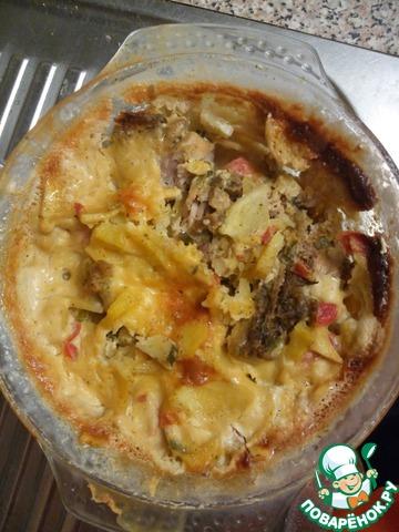 Рецепт Картошка с курицей в микроволновке или Муж на пороге
