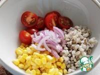 Салат с перловкой, кукурузой и помидорами ингредиенты