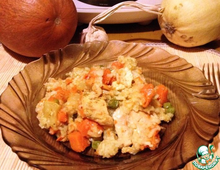 Рецепт: Карри из курицы с осенними овощами