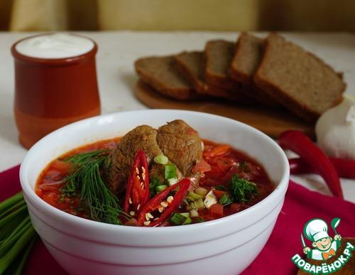 Рецепт Борщ с грибами