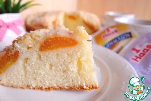 Рецепт Пирог с абрикосами в лимонной глазури