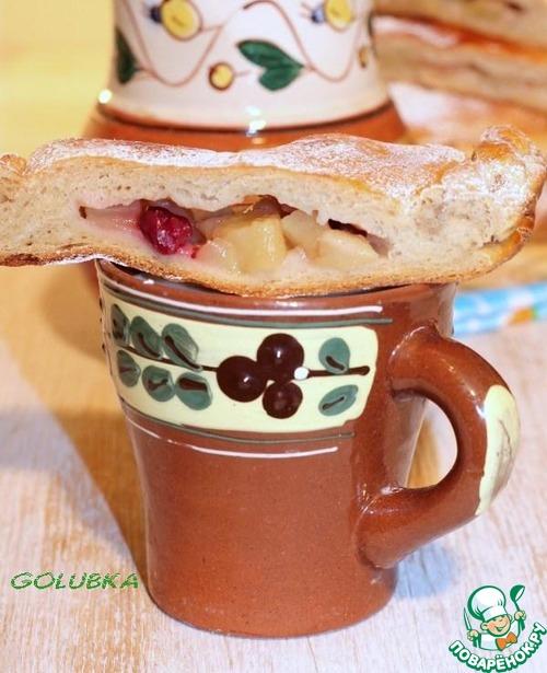 Рецепт Фокачча из гречневой муки с яблоками