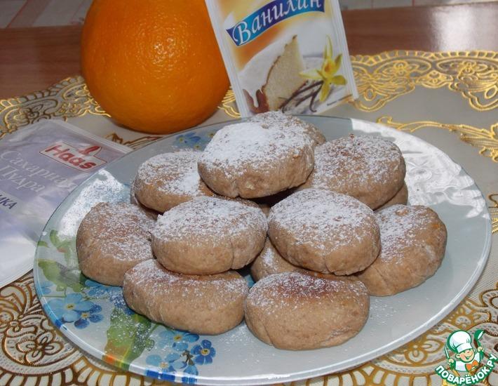 Рецепт: Шоколадно-цитрусовое печенье