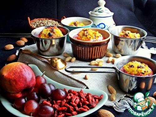 Рецепт Запечённые яблоки с рисом, орехами и ягодами