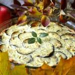 Тарт творожно-баклажановый
