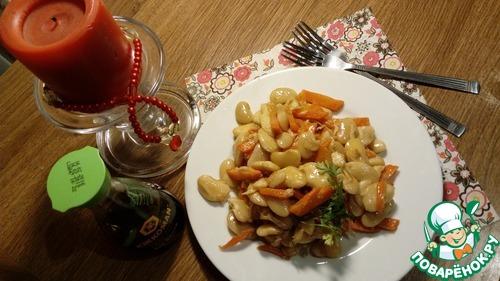 Рецепт Салат из фасоли с морковью