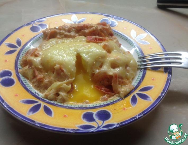 Рецепт: Яйца пашот с помидорами