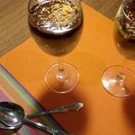 Пшенный десерт с манго и шоколадом