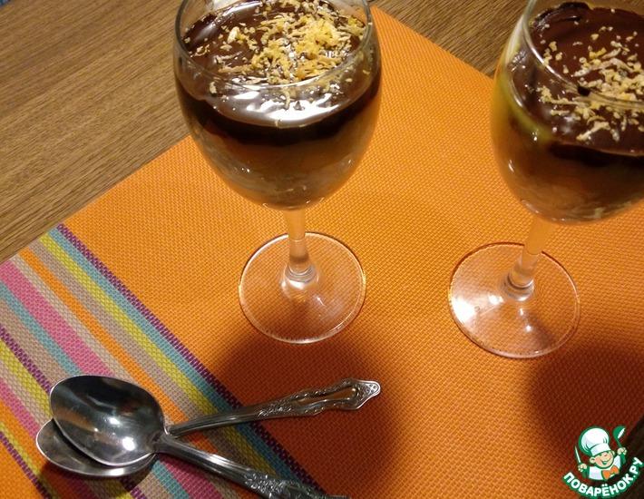 Рецепт: Пшенный десерт с манго и шоколадом