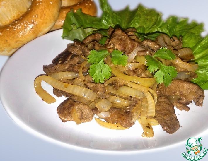 Рецепт: Шашлык в казане с луком по-уйгурски