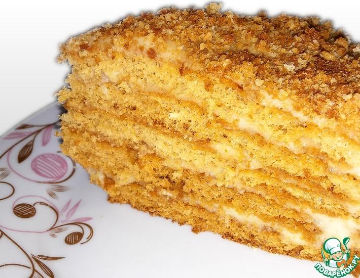 Рецепт: Торт Медовик воздушный