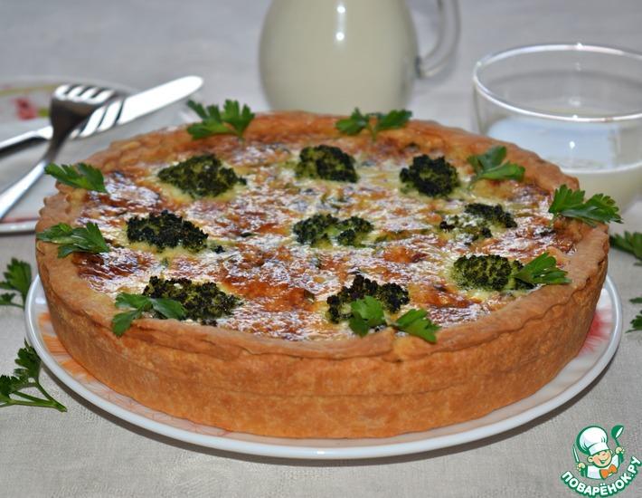 Рецепт: Рыбный пирог с брокколи