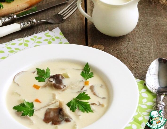 Рецепт: Суп из вешенок