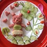 Овсяная каша Розовый мишка
