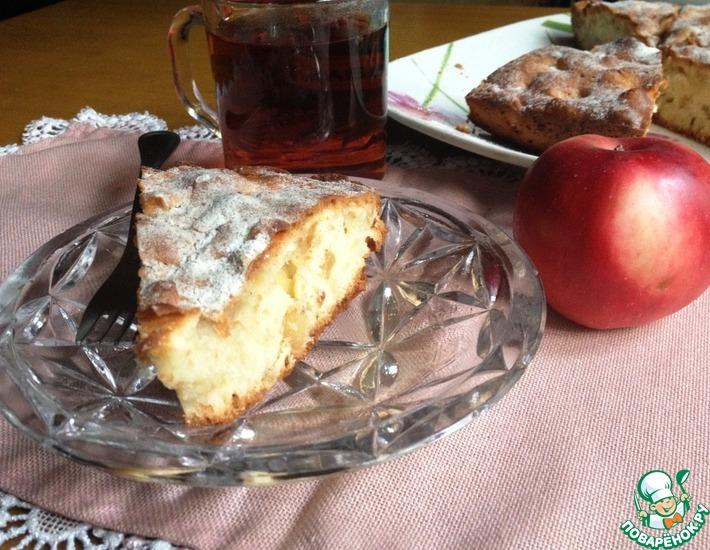 Рецепт: Яблочный пирог с имбирём