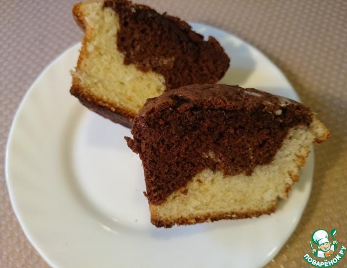 Рецепт: Мраморный кекс с шоколадом