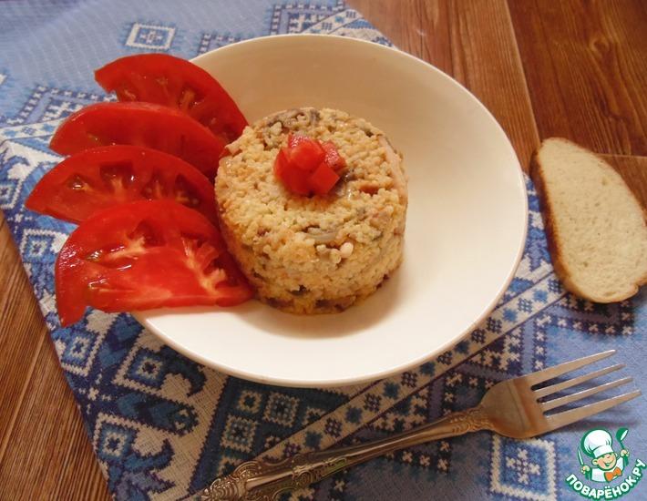 Рецепт: Пшённая каша с карбонадом и шампиньонами