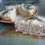 Торт закусочный из яичных блинов