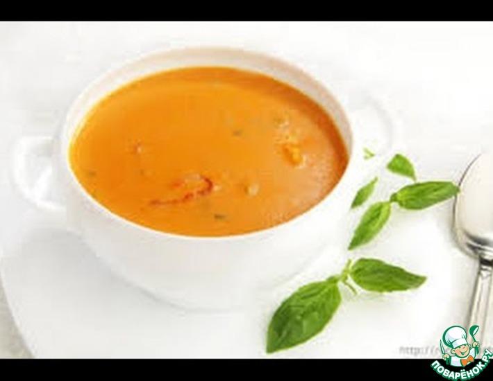 Рецепт: Суп-пюре с морепродуктами