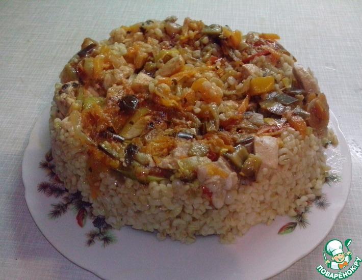 Рецепт: Булгур с куриным филе