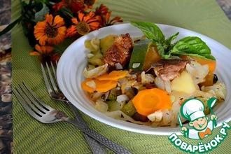 Рецепт: Рагу овощное со свининой и зеленью