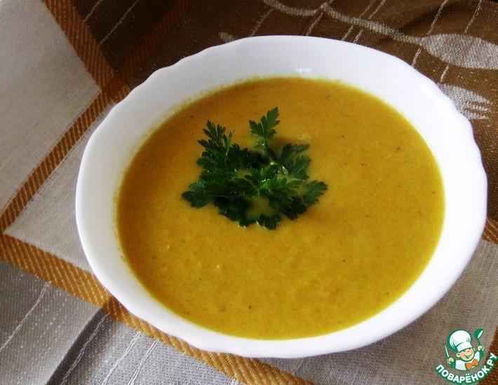 Рецепт: Морковный крем-суп с кориандром