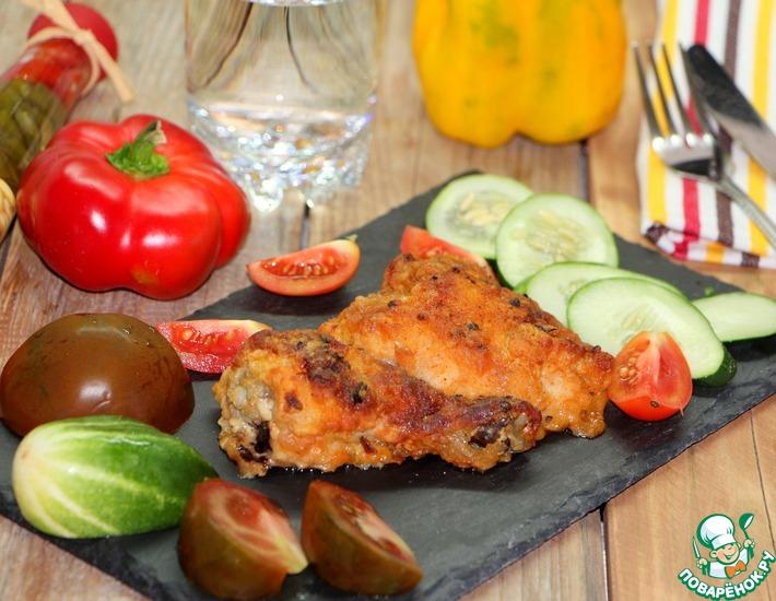 Рецепт: Нежная курица в хрустящей панировке