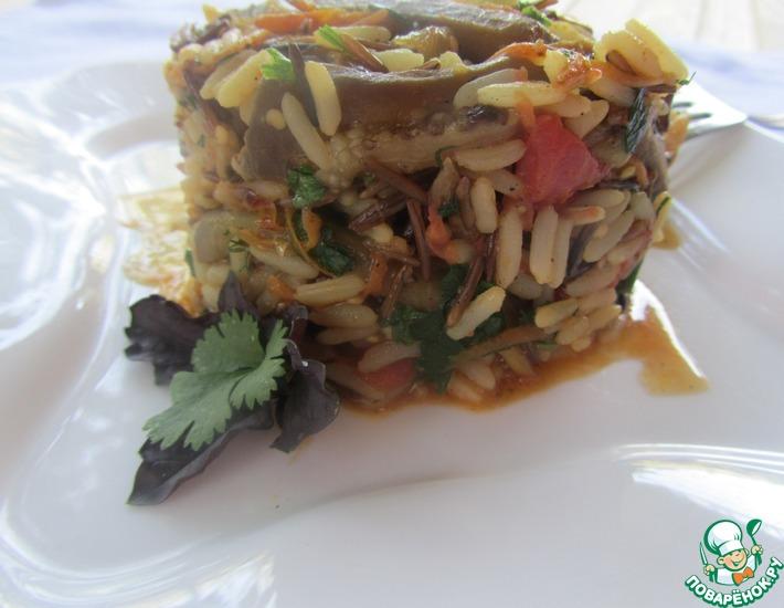 Рецепт: Рисовый микс с баклажанами