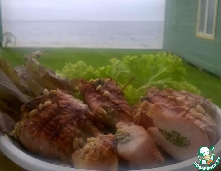 Рецепт: Мясные рулетики с кедровыми орехами