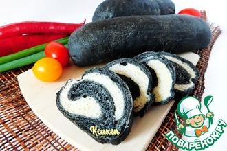 Рецепт: Хлебный рулет Черное-белое