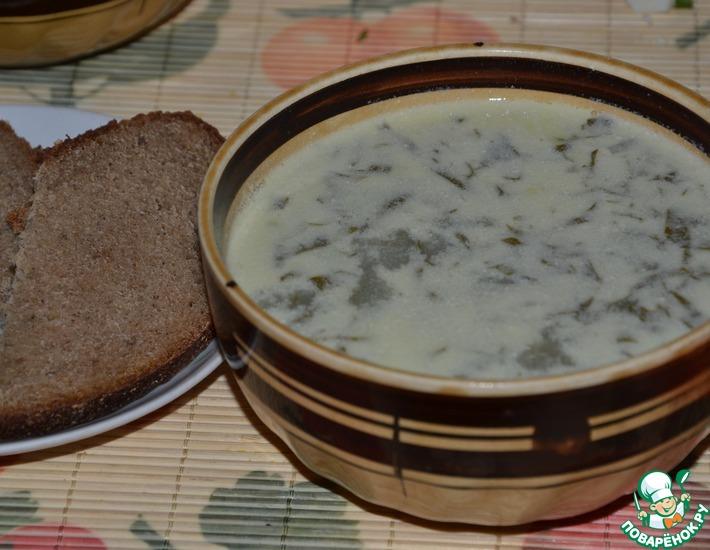 Рецепт: Зеленый борщ Белый