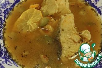 Рецепт: Селянка из рыбы на рыбном бульоне