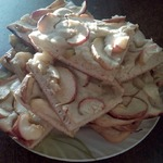 Пирог на минеральной воде с фруктами