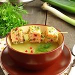 Картофельный суп-пюре с лососем