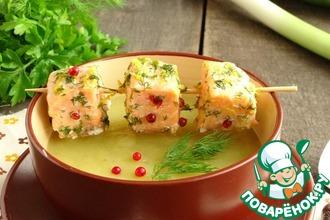 Рецепт: Картофельный суп-пюре с лососем
