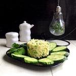Салат с зеленой редькой Осенний