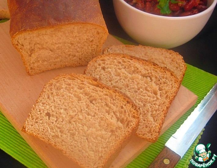 Рецепт: Хлеб на фасолевом отваре