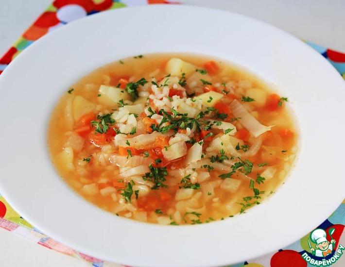 Рецепт: Капустный суп с рисом