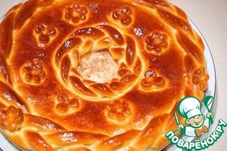 Рецепт: Домашний пирог с семгой