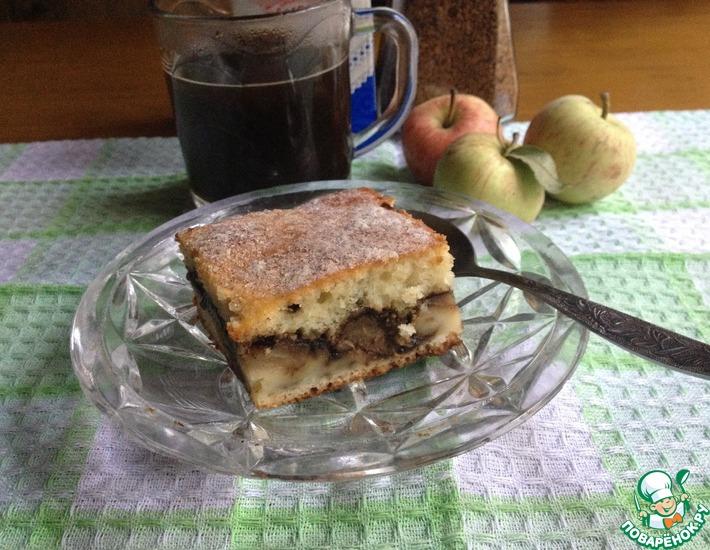 Рецепт: Кофейно-яблочный пирог