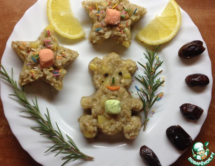 Рецепт: Овсяная каша с карамелизированными фруктами