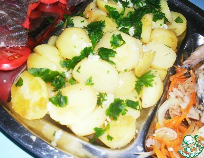 Рецепт: Пряные картофельные ломтики